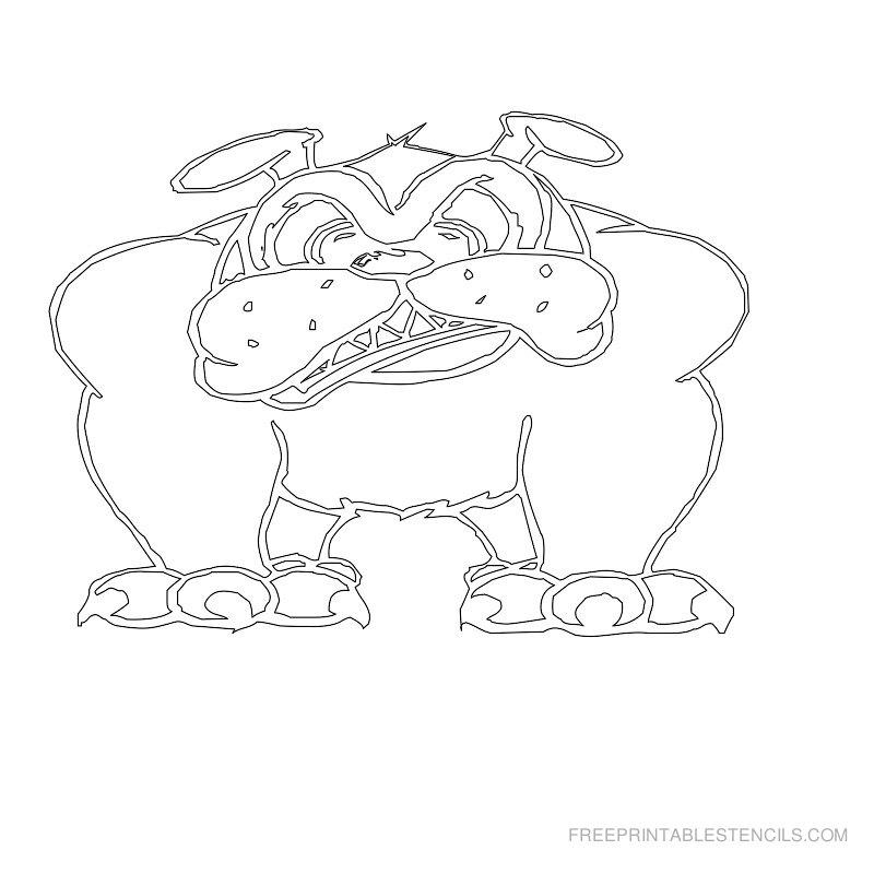 Free Printable Dog Stencil J