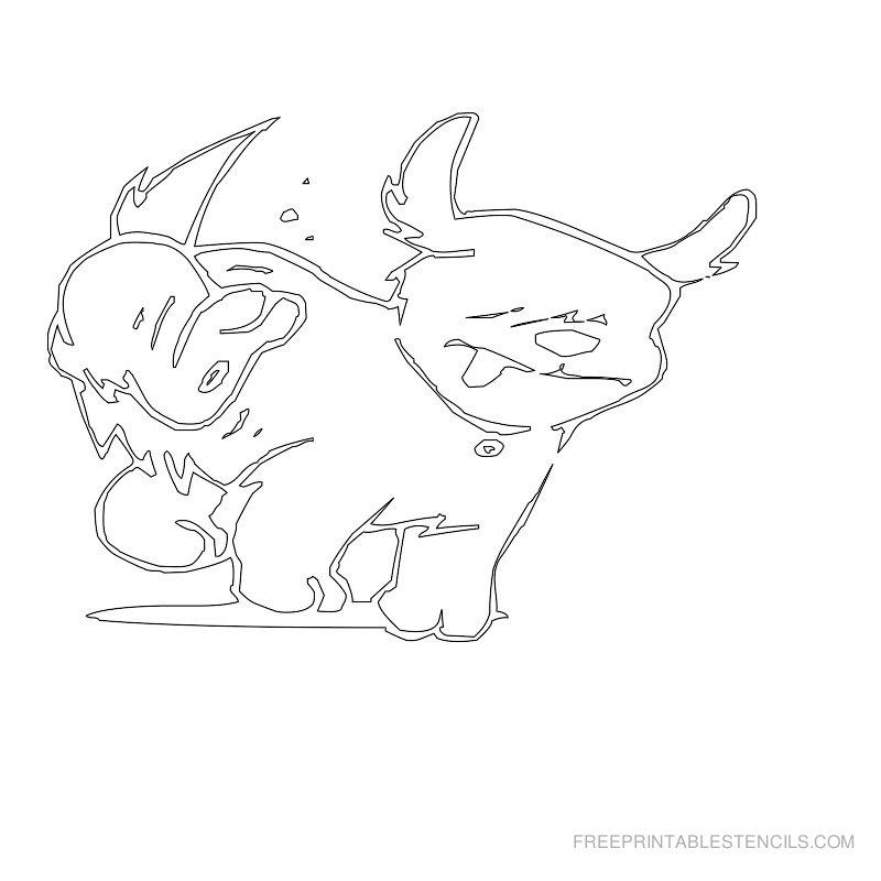 Free Printable Dog Stencil N