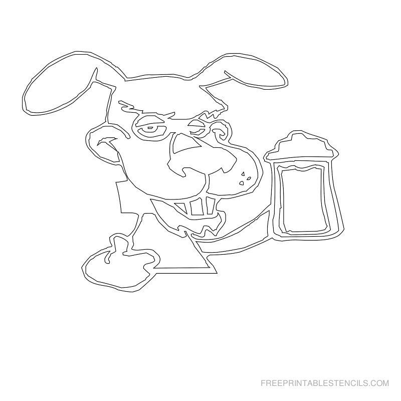 Free Printable Dog Stencil O