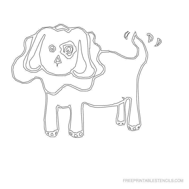 Free Printable Dog Stencil Q