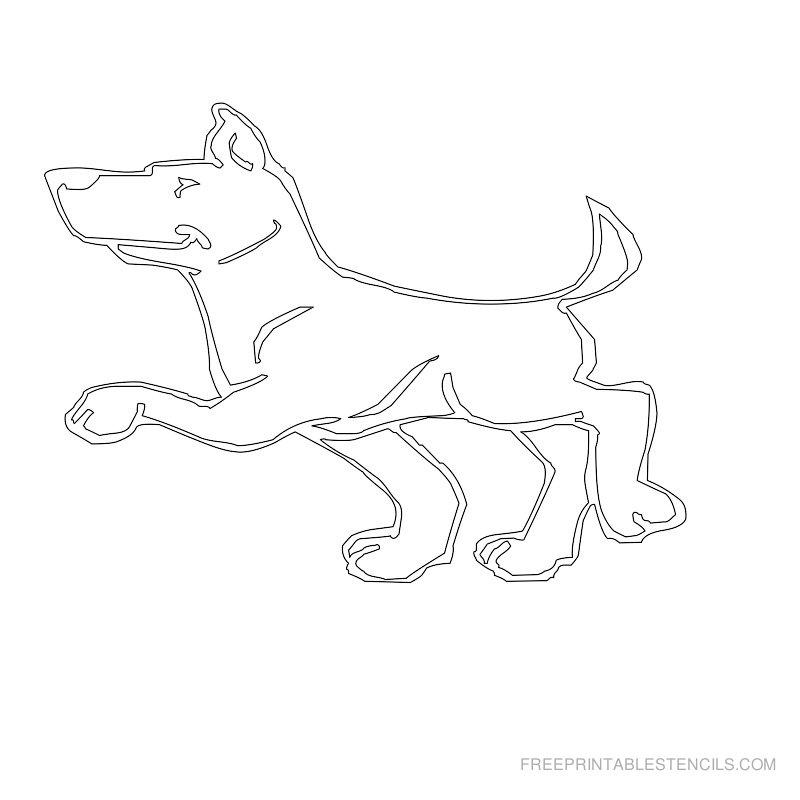 Free Printable Dog Stencil R