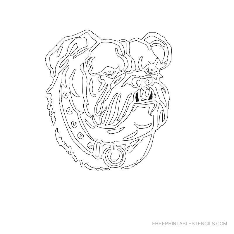 Free Printable Dog Stencil T
