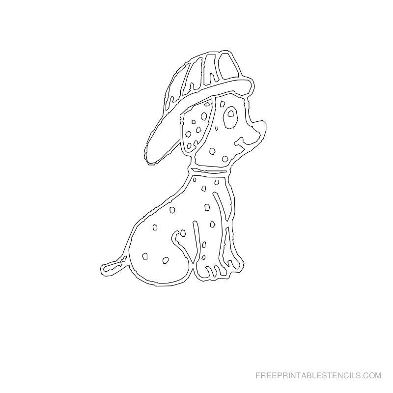 Free Printable Dog Stencil U