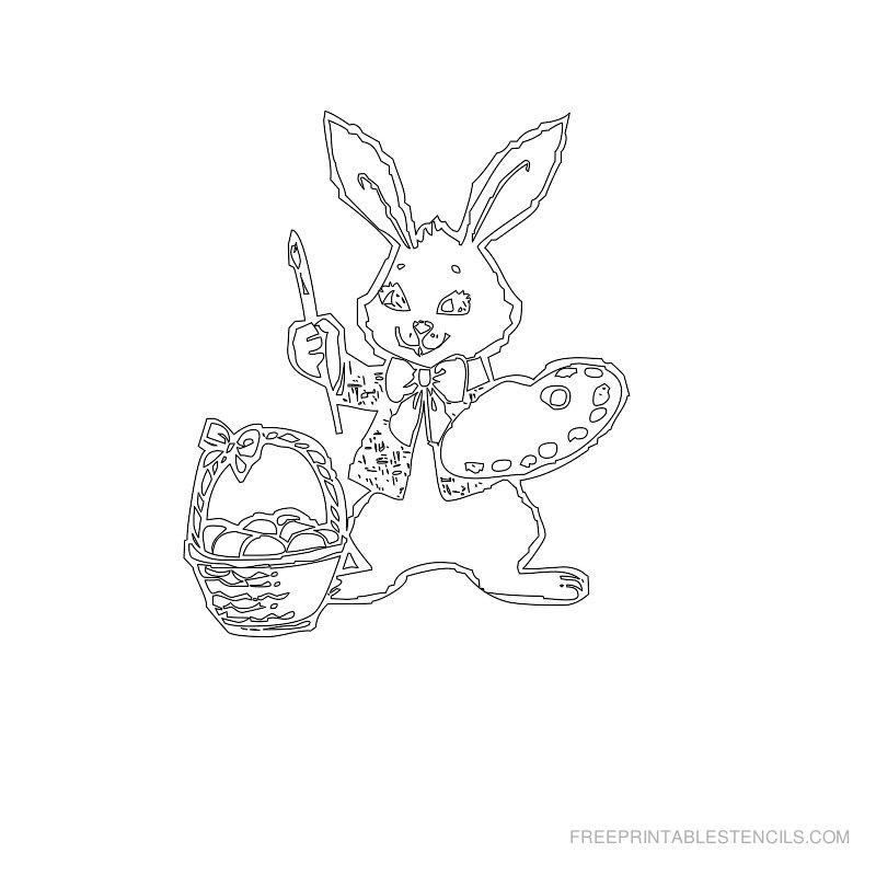 Free Printable Easter Stencil E