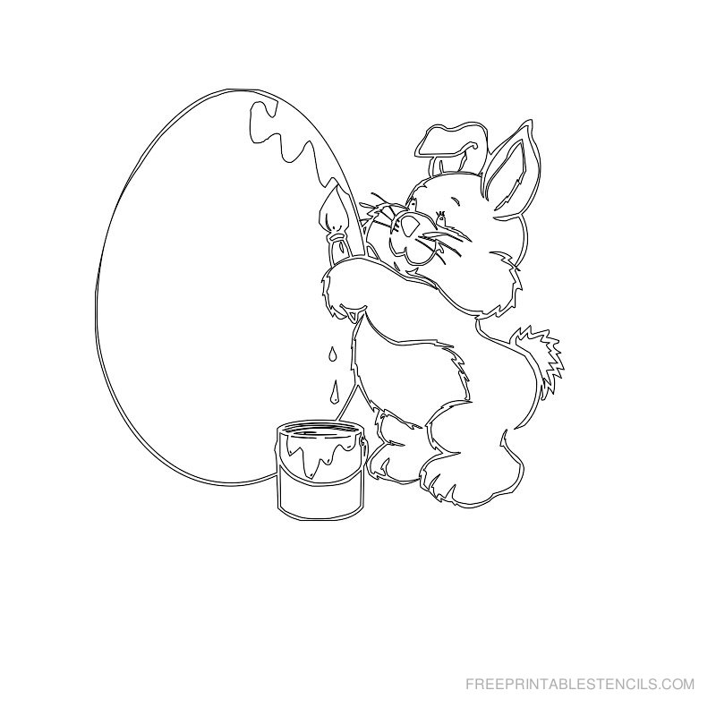 Free Printable Easter Stencil F