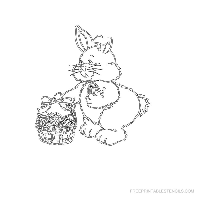 Free Printable Easter Stencil G