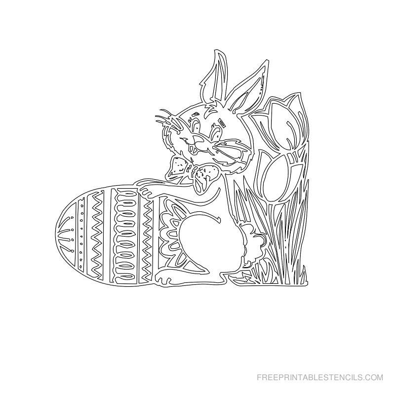 Free Printable Easter Stencil K