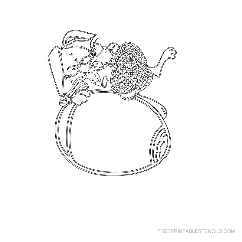 Free Printable Easter Stencil L