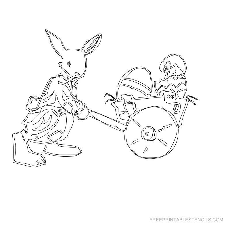 Free Printable Easter Stencil N