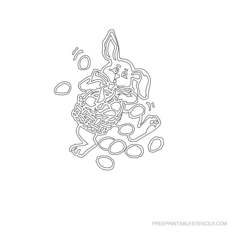 Free Printable Easter Stencil O