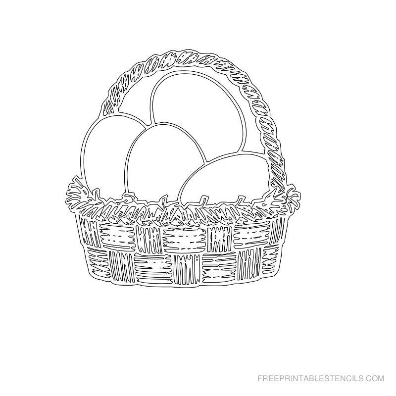 Free Printable Easter Stencil P