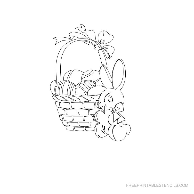 Free Printable Easter Stencil Q