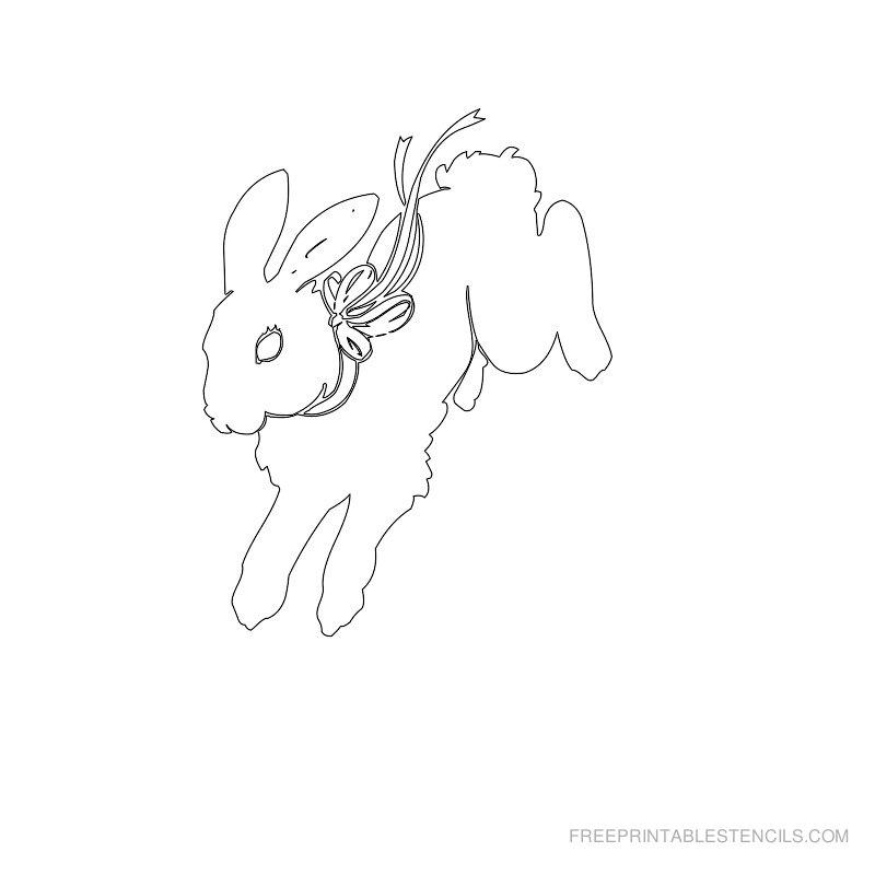 Free Printable Easter Stencil U