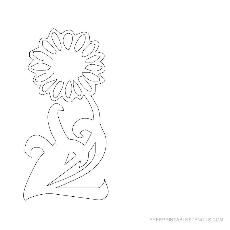 Free Printable Flower Stencil A