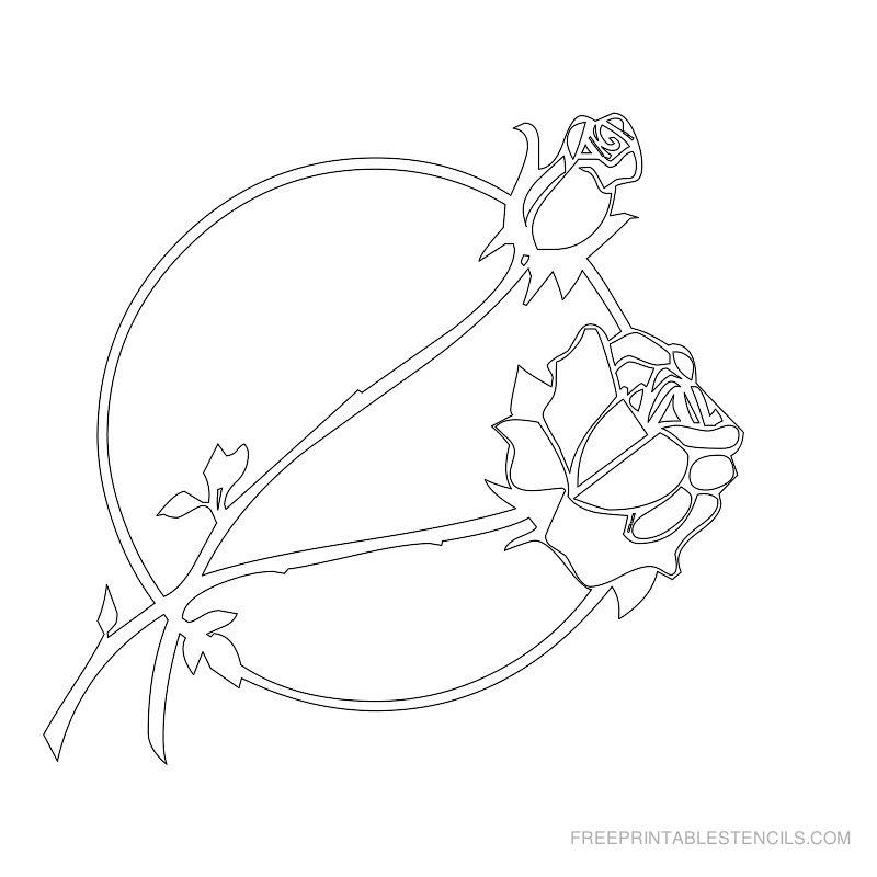 Free Printable Flower Stencil C