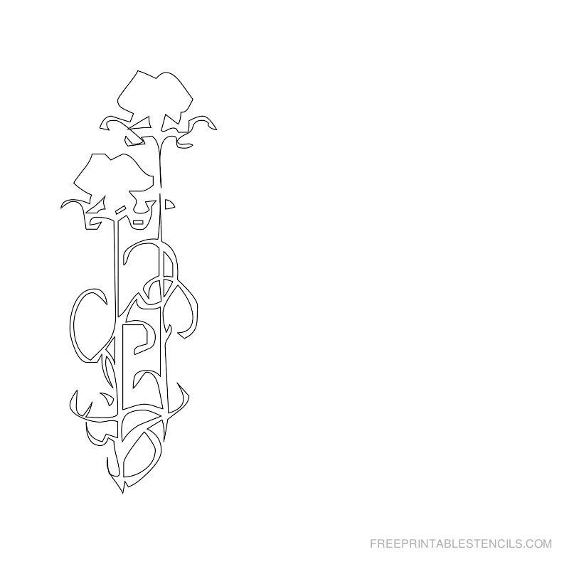 Free Printable Flower Stencil D