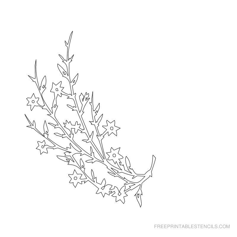 Free Printable Flower Stencil E