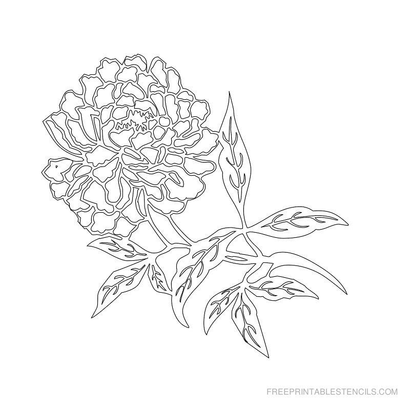 Free Printable Flower Stencil F