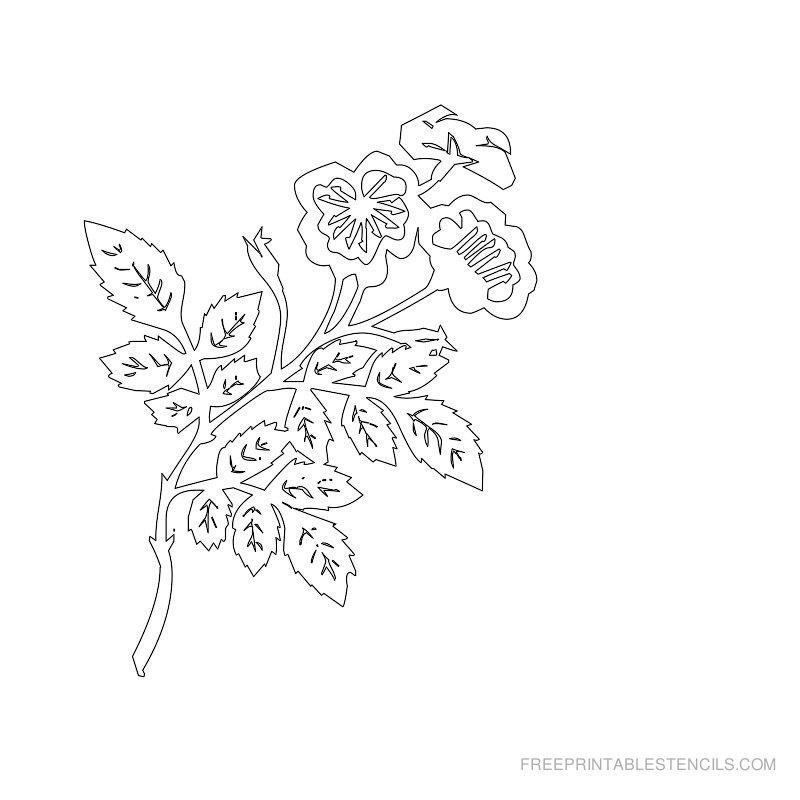 Free Printable Flower Stencil G