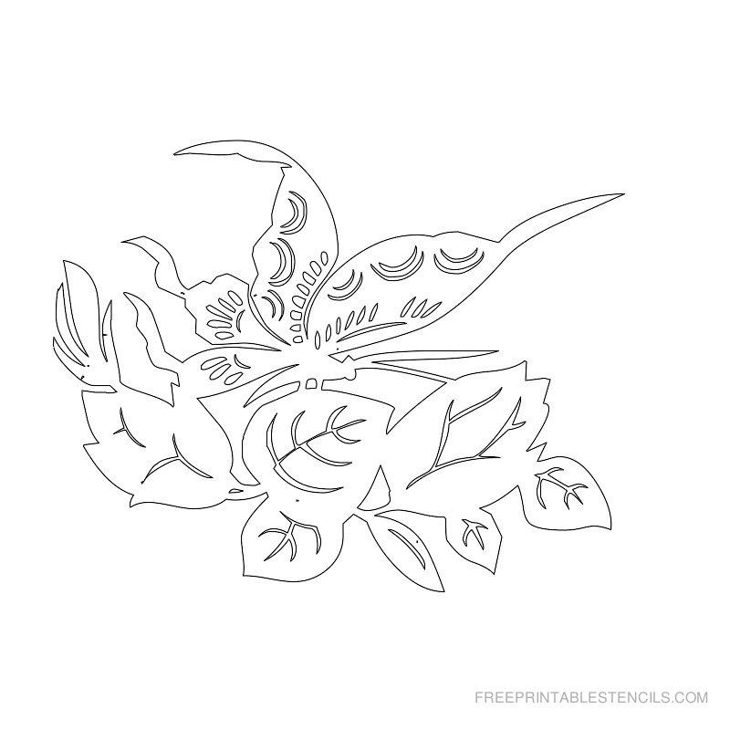 Free Printable Flower Stencil H