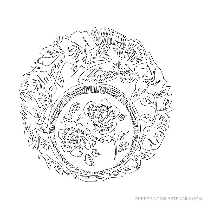 Free Printable Flower Stencil I