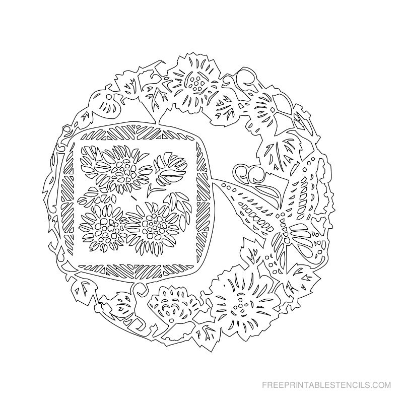 Free Printable Flower Stencil J