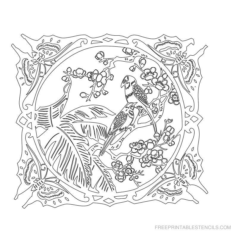 Free Printable Flower Stencil K