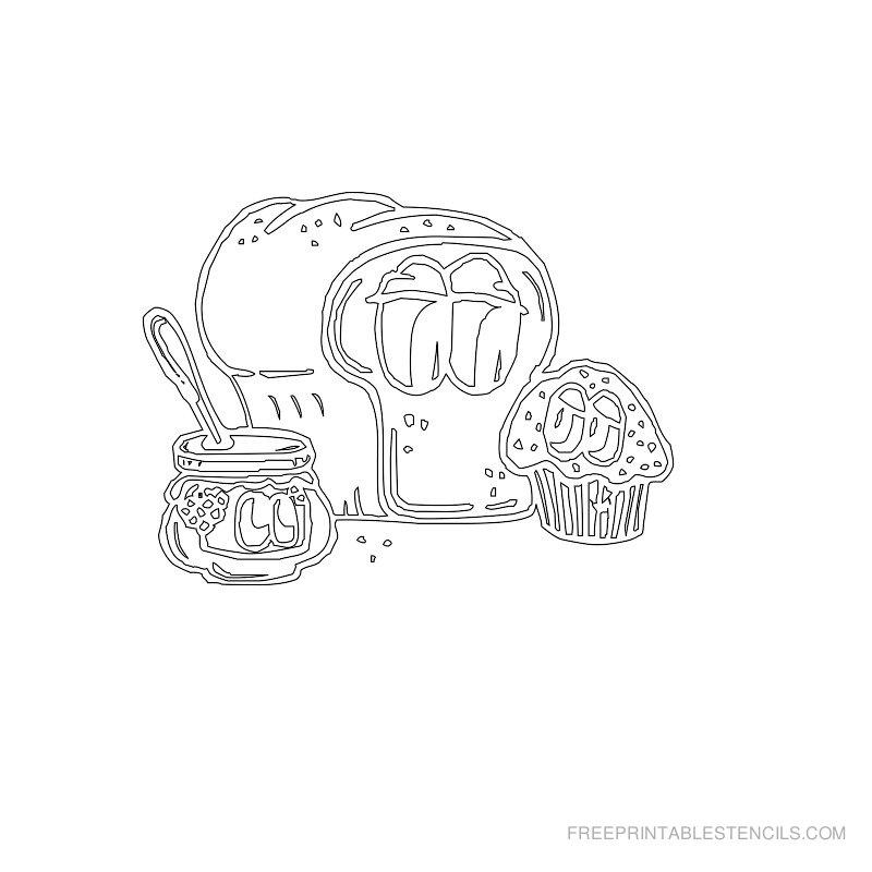Free Printable Food Stencil A