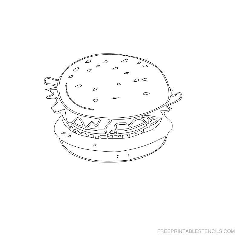 Free Printable Food Stencil B