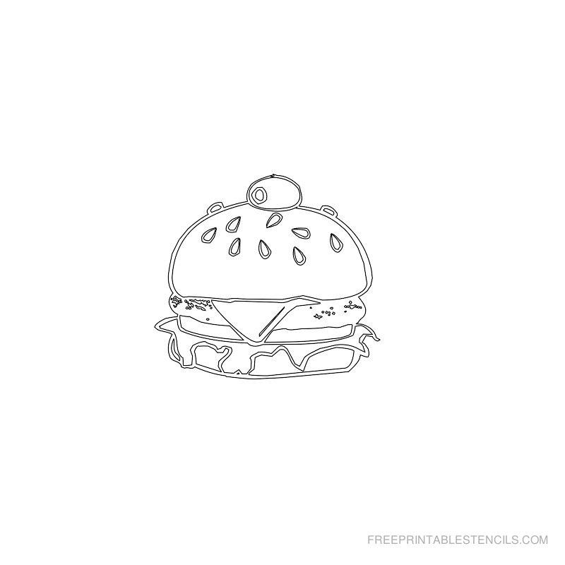 Free Printable Food Stencil C