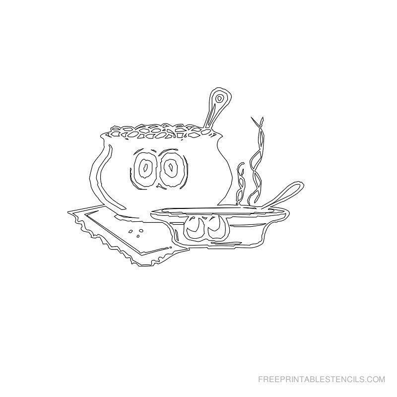 Free Printable Food Stencil J