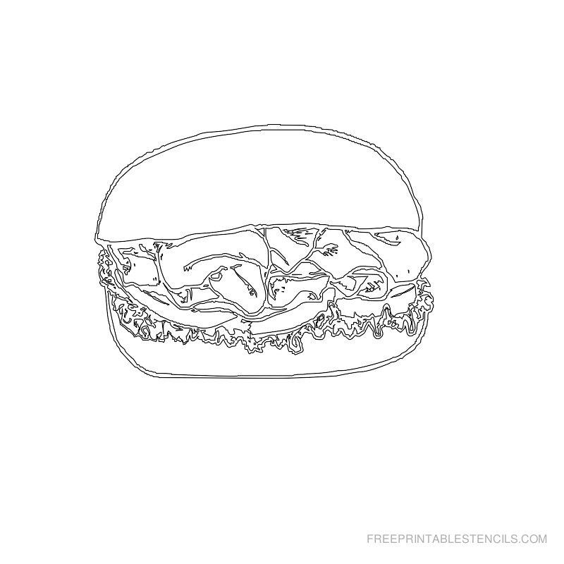 Free Printable Food Stencil M