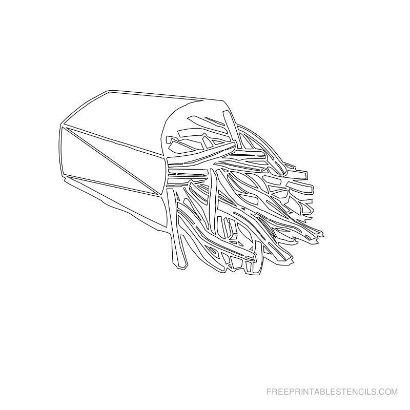 Free Printable Food Stencil O