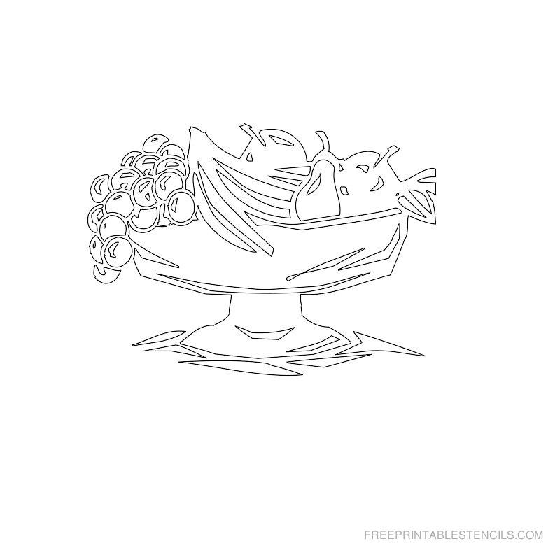 Free Printable Food Stencil P