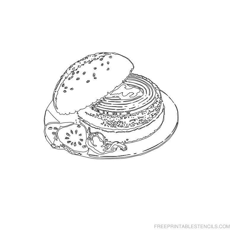 Free Printable Food Stencil Q