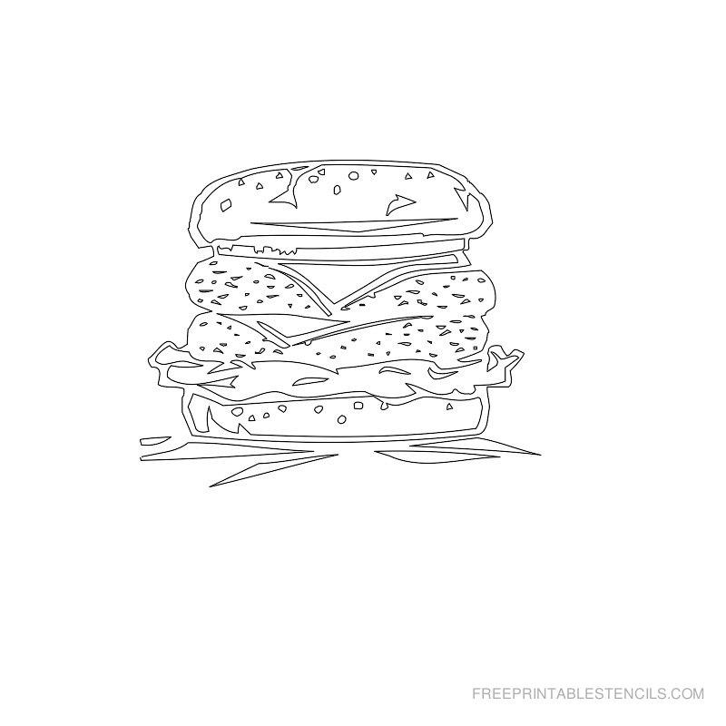 Free Printable Food Stencil R