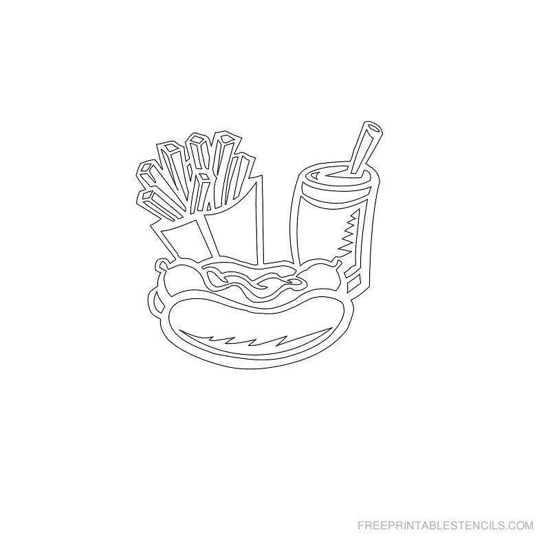 Free Printable Food Stencil W