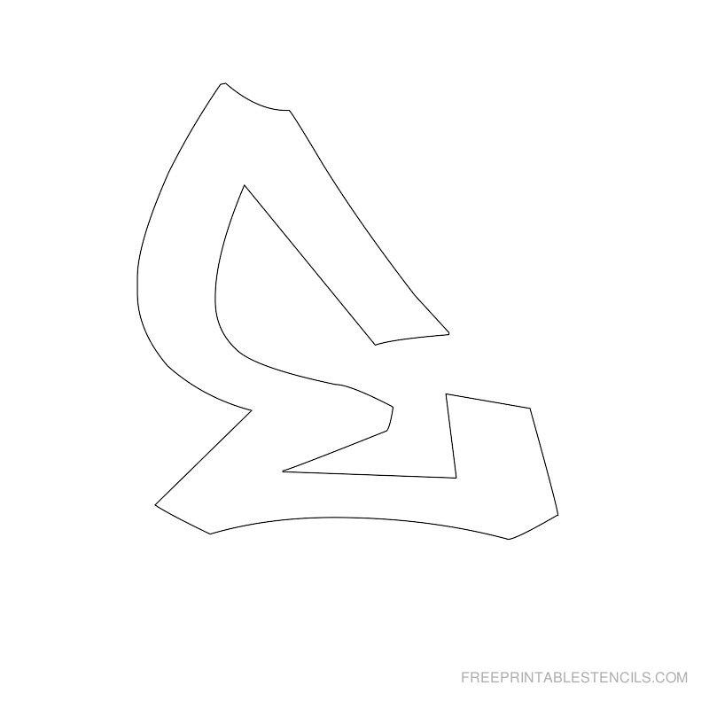 Printable Graffiti Alphabet Stencil E