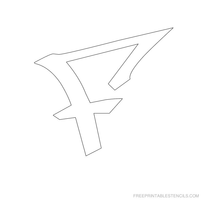 Printable Graffiti Alphabet Stencil F