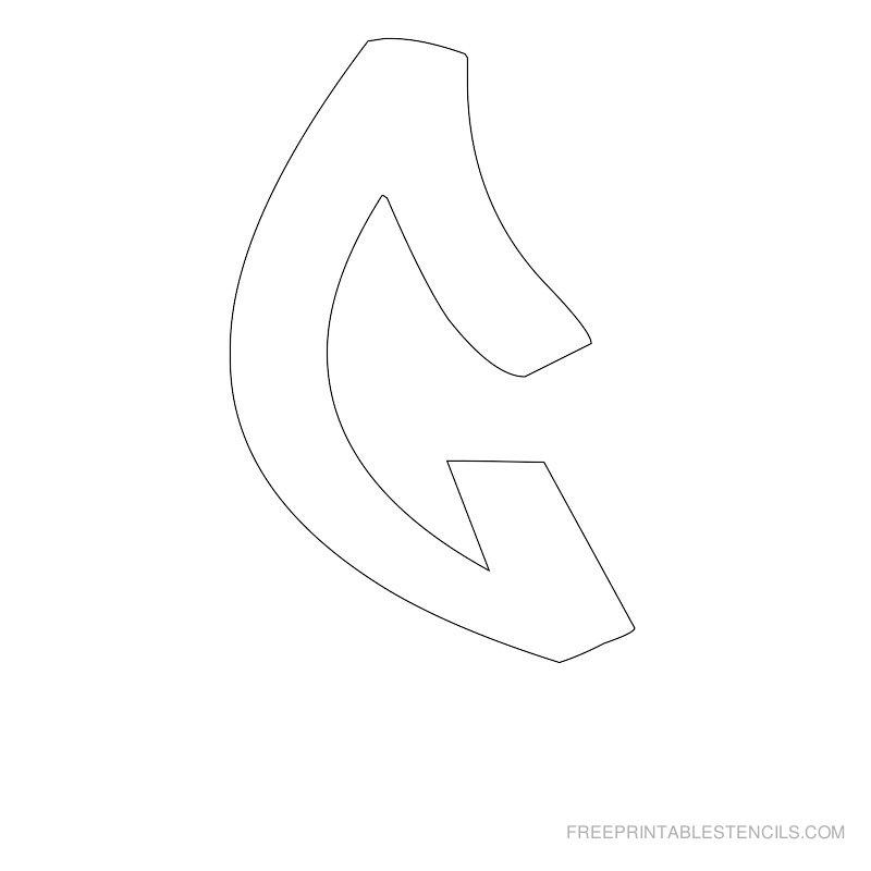 Printable Graffiti Alphabet Stencil G