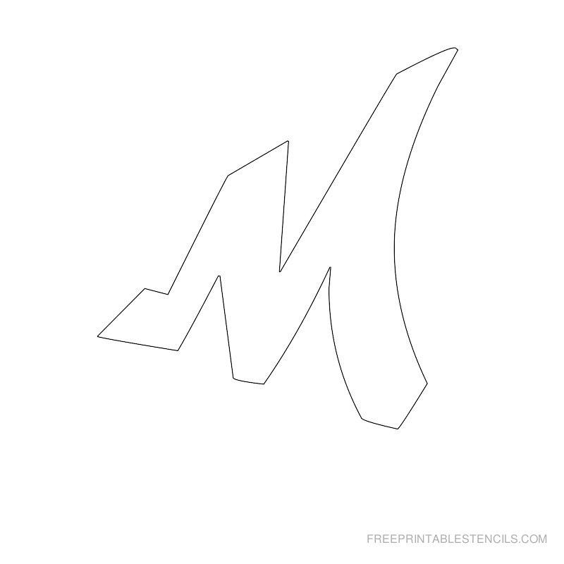 Printable Graffiti Alphabet Stencil M