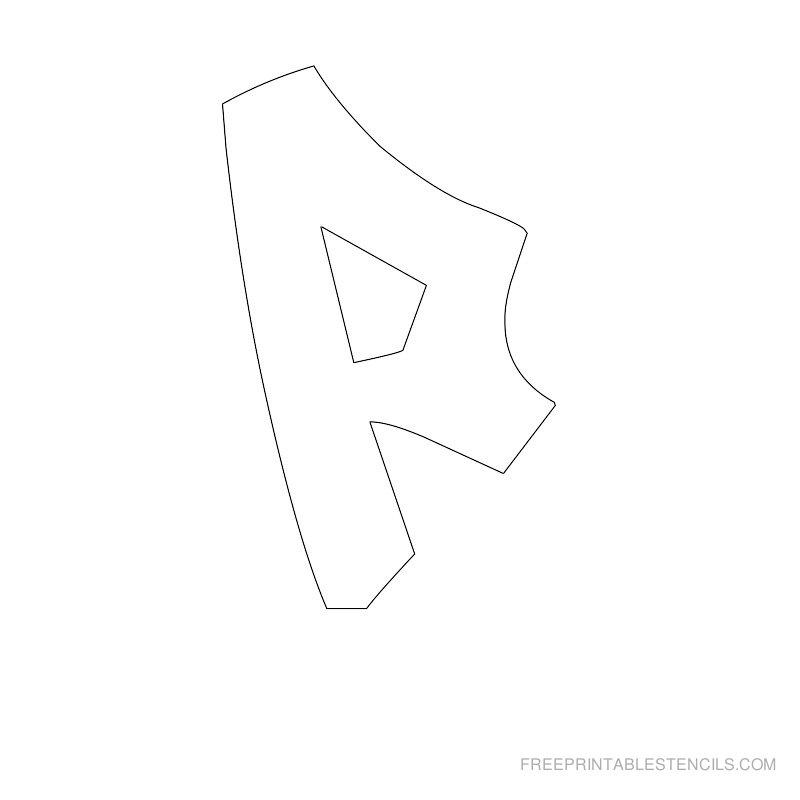 Printable Graffiti Alphabet Stencil P