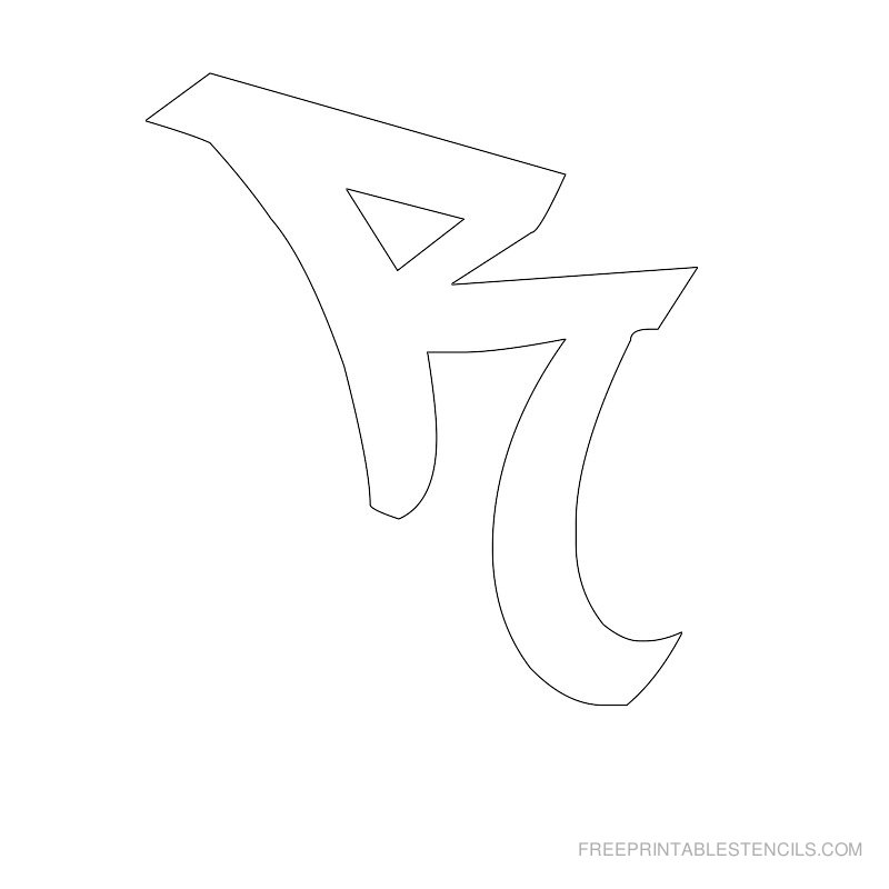 Printable Graffiti Alphabet Stencil R