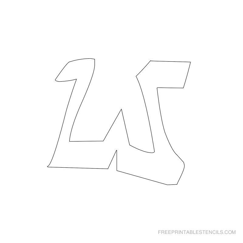 Printable Graffiti Alphabet Stencil W