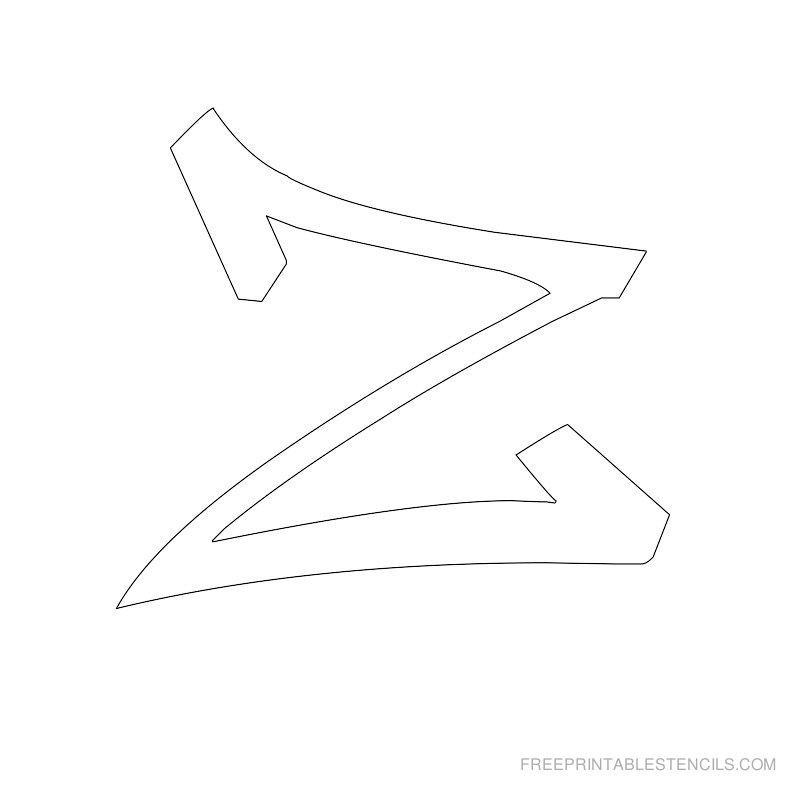 Printable Graffiti Alphabet Stencil Z