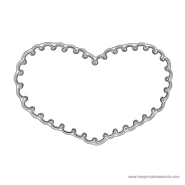 Christmas Printable Stencil Heart