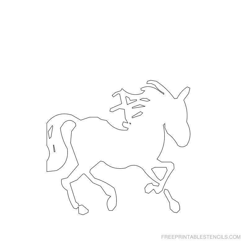 Free Printable Horse Stencil B