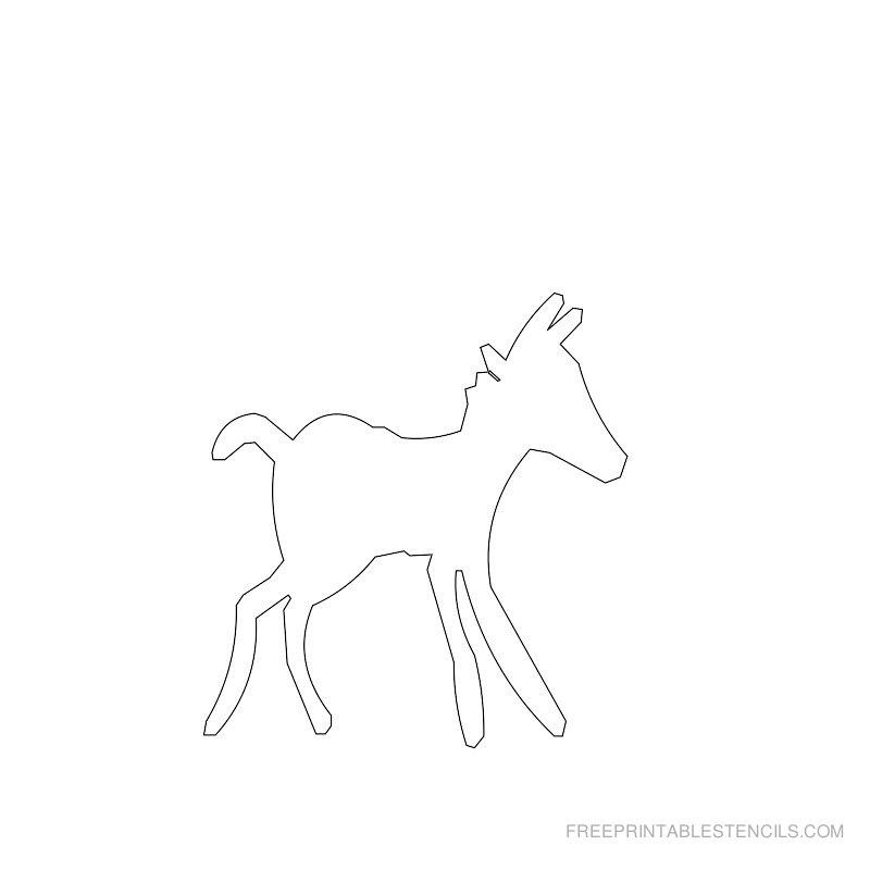 Free Printable Horse Stencil C
