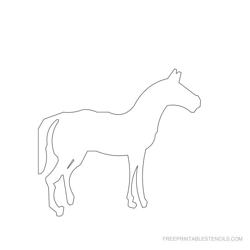 Free Printable Horse Stencil D