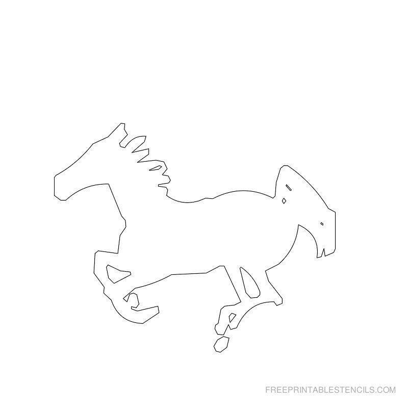 Free Printable Horse Stencil E
